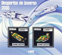 GUINE BISSAU 2010 SHEET WINTER SPORTS OLYMPIC GAMES JEUX DE HIVER LUGE DESPORTOS Gb10202a Silver - Guinea-Bissau