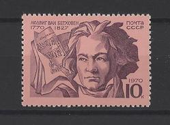 RUSSIE . YT 3677 Neuf **  200e Anniversaire De La Naissance De Ludwig Von Beethoven 1970