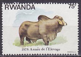 Timbre Oblitéré N° 867(Yvert) Rwanda 1978 - Année De L´élevage
