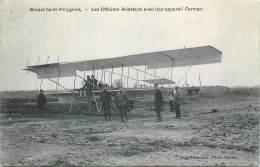 Brasschaat-Polygone - Les Officiers Aviateurs Avec Leur Appareil Farman - Brasschaat