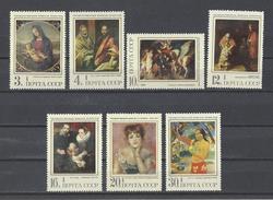 RUSSIE . YT 3680/3686 Neuf **  Chefs-d'oeuvre De La Peinture étrangère Dans Les Musées Soviétiques 1970