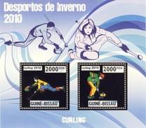 GUINE BISSAU 2010 SHEET WINTER SPORTS OLYMPIC GAMES JEUX DE HIVER CURLING DESPORTOS Gb10208a Gold - Guinea-Bissau