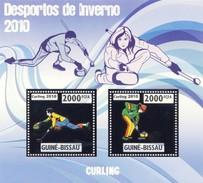 GUINE BISSAU 2010 SHEET WINTER SPORTS OLYMPIC GAMES JEUX DE HIVER CURLING DESPORTOS Gb10208a Silver - Guinea-Bissau