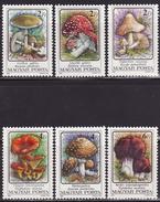 HUNGARY 1986  MNH ** 3871-3876  MUSHROOMS, FUNGI