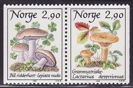 NORWAY 1988  MNH ** 990-991  MUSHROOMS, FUNGI