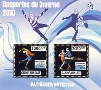 GUINE BISSAU 2010 SHEET WINTER SPORTS OLYMPIC GAMES JEUX DE HIVER FIGURE SKATING DESPORTOS Gb10210a Gold - Guinea-Bissau