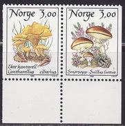 NORWAY 1989  MNH **  1012-1013  MUSHROOMS, FUNGI