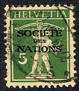 S.D.N. TIMBRE OBLITERE 1930 C/DES TIMBRES SUISSES Nr:34.. MICHEL Nr:29. DENTS COURTES.