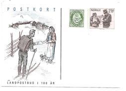 NORVEGE FACTEUR A SKI 100 ANS POSTE NORVEGIENNE 1985 - Berufe
