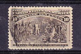 USA 1892 Columbus 10c Used (35787) - 1847-99 Algemene Uitgaves