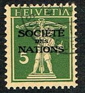 S.D.N. TIMBRE OBLITERE 1930 C/DES TIMBRES SUISSES Nr:34.. MICHEL Nr:29.