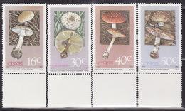 CISKEI 1988  MNH **  145-148  MUSHROOMS, FUNGI