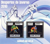 GUINE BISSAU 2010 SHEET WINTER SPORTS OLYMPIC GAMES JEUX DE HIVER ICE HOCKEY DESPORTOS Gb10214a Gold - Guinea-Bissau