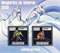GUINE BISSAU 2010 SHEET WINTER SPORTS OLYMPIC GAMES JEUX DE HIVER ICE HOCKEY DESPORTOS Gb10214a Silver - Guinea-Bissau