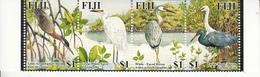 2005 Fiji Herons & Egrets Flora & Fauna Birds Complete Strip Of 4 MNH - Fiji (1970-...)