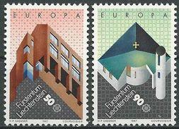 LIECHTENSTEIN 1987 MI-NR. 916/17 ** MNH - CEPT - Liechtenstein