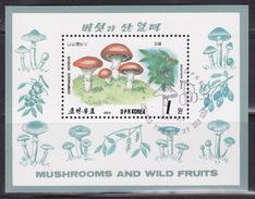 KOREA NORTH 1989  MNH **  BL.244  MUSHROOMS, FUNGI