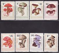 BULGARIA  1961  MNH **  1263-1270  MUSHROOMS, FUNGI