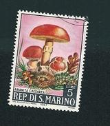 N° 698 CHAMPIGNON Amanita Caeserea   TIMBRE San Marin (1967) Oblitéré 5 L - Saint-Marin