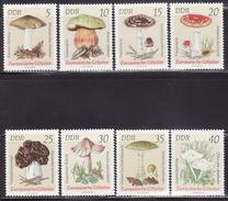 DDR  1974  MNH **  1933-1940  MUSHROOMS, FUNGI