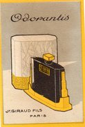 75 Ta  Carte Parfumée Parfum Odorantis Giraud Et Fils à Paris - Perfume Cards