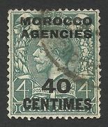 Morocco Agencies, 40 C. 1925, Sc # 415, Used. - Great Britain (former Colonies & Protectorates)