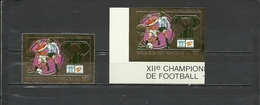 CENTRAL AFRICA 1981   Soccer Football  World Cup 1982  1v.  Golden Foil Perf.+imperf. - World Cup