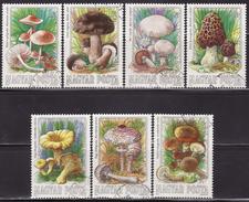 HUNGARY  1984  USED  3708-3714  MUSHROOMS, FUNGI