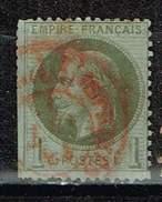 Frankreich 1862, Michel # 24 O Beschädigt, Als Lückenfüller - 1863-1870 Napoléon III. Laure