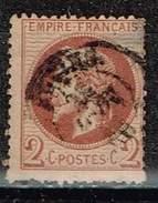 Frankreich 1862, Michel # 25 O Beschädigt, Als Lückenfüller - 1863-1870 Napoléon III. Laure