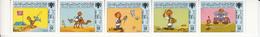 1986 Libya International Children's Day Cartoon Animation Complete Strip Of 5 MNH