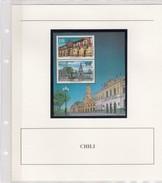 CHILI - CHILE - BLOC 1991 450 ANOS FUNDACION DE SANTIAGO - CASA DE MONEDA -  MNH**  AVEC COMMENTAIRES / TBS - Chile
