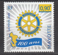 2005 Mayotte  Rotary International  Complete Set Of 1 MNH - Mayotte (1892-2011)