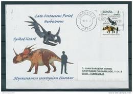 SPAIN*Styracosaurus Ceratopsian Dinosaur/Spiked Lizard/Late Cretaceous Period/Dino/Dinosaurs/Rep Tilia/Animalia/Animals