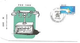 BELGIQUE FDC TELEPHONE 1980