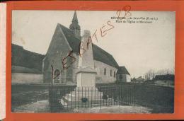 CPA  28  MEVOISINS  (près De St-Piat)  Place De L'Eglise  Et Le Monument    Av. Mai 2017 143 - France