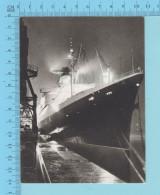 Navire à Quai, Paquebots - Photo K. C. (M. Laurent ) - 2 Scans - Zonder Classificatie