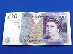 Banconota_Banconote_Bank Of England_Lotto Di 1 Biglietto  Da 20 Twenty Pounds 2006_Serie BC 73 625500 -Originale 100% - 1952-… : Elizabeth II