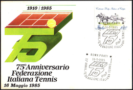 ITALIA ROMA 1985 - 75° ANNIVERSARIO FEDERAZIONE ITALIANA TENNIS - CARTOLINA UFFICIALE