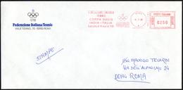 ITALIA ROMA 1985 - FEDERAZIONE ITALIANA TENNIS - COPPA DAVIS - INDIA Vs ITALIA - METER CONI 10.3.1985
