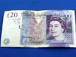 Banconota_Banconote_Bank Of England_Lotto Di 1 Biglietto  Da 20 Twenty Pounds 2006_Serie AE22 308489 -Originale 100% - 1952-… : Elizabeth II