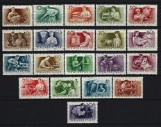UNGARN - Mi-Nr. 1426 - 1445  Freimarken: Berufe Postfrisch