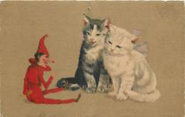 Fantaisie - Pinocchio Et Les Chats - ( Arlequin ) - Trou D'épingle - Fantaisies
