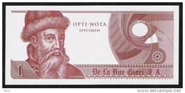 """Echantillon DE LA RUE """"Gutenberg - Type K"""" Testnote, Mit Intaglio, Eins. Druck, RRR, UNC, SPECIMEN - Banknoten"""