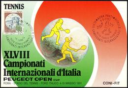 TENNIS - ITALIA ROMA 1991 - XLVIII CAMPIONATI INTERNAZIONALI D´ITALIA - INIZIO TORNEO FEMMINILE - CARTOLINA UFFICIALE