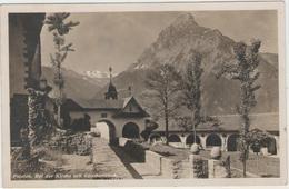 CPA:   FLUELEN  (suisse):     Bei Der Kirche Mit Gitschenstock En 1928.(photo Véritable)     (D 665) - UR Uri