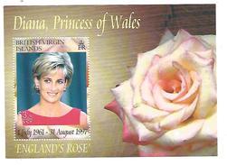 BRITISH VIRGIN ISLANDS BF LADY DIANA - ROSE
