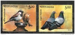 INDIA, 2010, Birds Of India, Set 2 V,  MNH, (**)