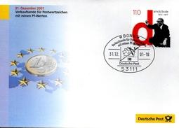 ALLEMAGNE     FDC 2001 Arnold Bode Peintre Architecte Euro