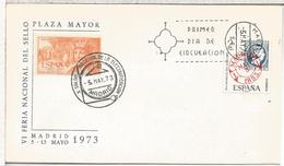 MADRID 1973 FDC + MAT SALON ELECTRICIDAD